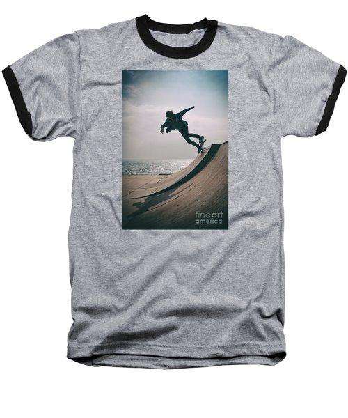 Skater Boy 007 Baseball T-Shirt
