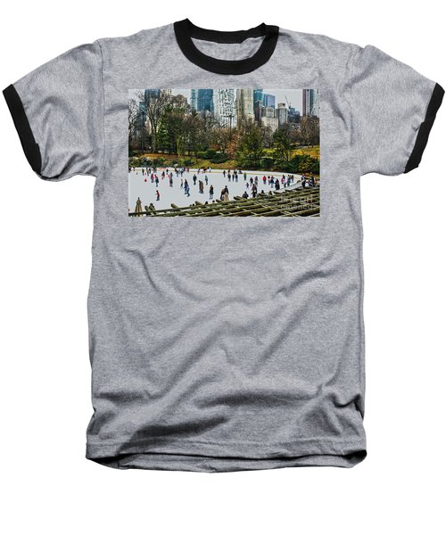 Skating At Central Park Baseball T-Shirt