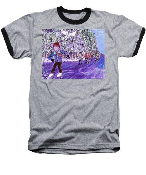 Skating On Thin Ice Baseball T-Shirt