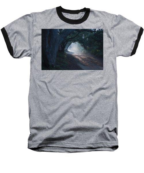 Skc 4671 Road Towards Light Baseball T-Shirt by Sunil Kapadia