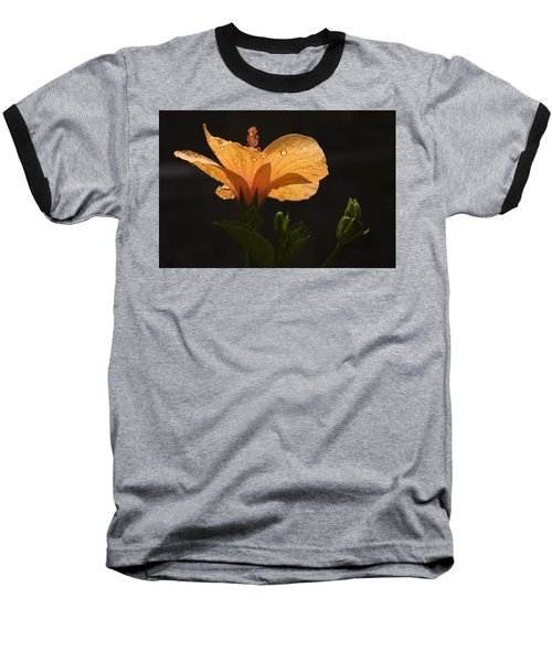 Skc 9937 The Grace Of Hibiscus Baseball T-Shirt by Sunil Kapadia