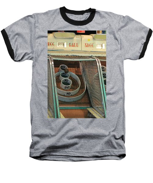 Skee Ball At Marty's Playland Baseball T-Shirt