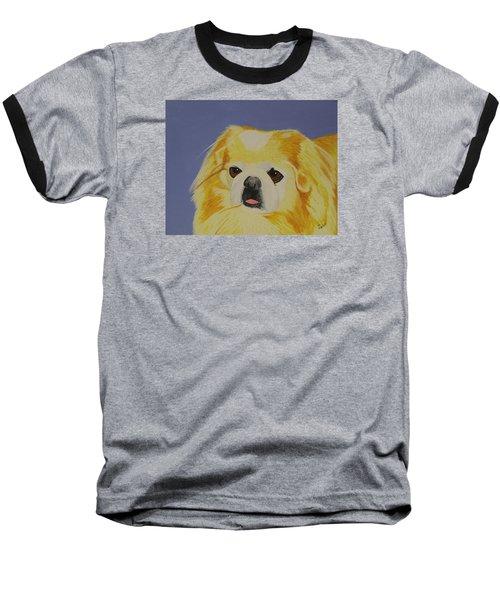Skeeter The Peke Baseball T-Shirt by Hilda and Jose Garrancho
