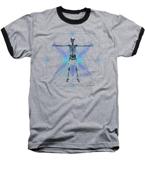 Skeletal System Baseball T-Shirt by Iowan Stone-Flowers