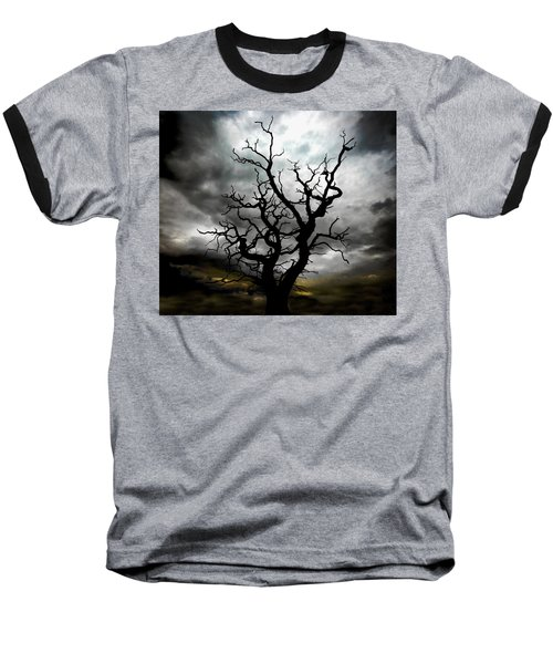 Skeletal Tree Baseball T-Shirt