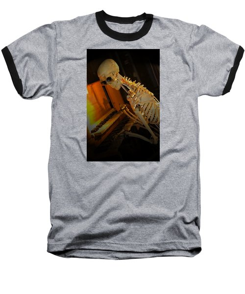 Baseball T-Shirt featuring the photograph Skeleton Musician by Bob Pardue