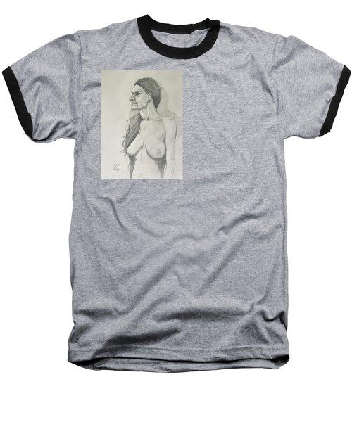 Sketch Mary Lying Baseball T-Shirt