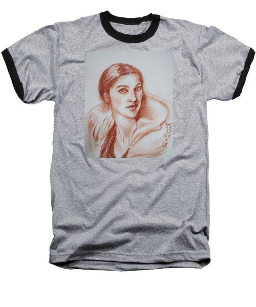 Sketch In Conte Crayon Baseball T-Shirt