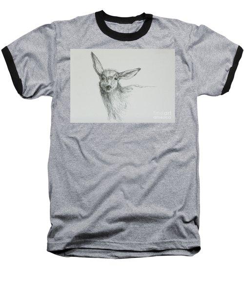 Sketch Of A Mule Deer Doe Baseball T-Shirt