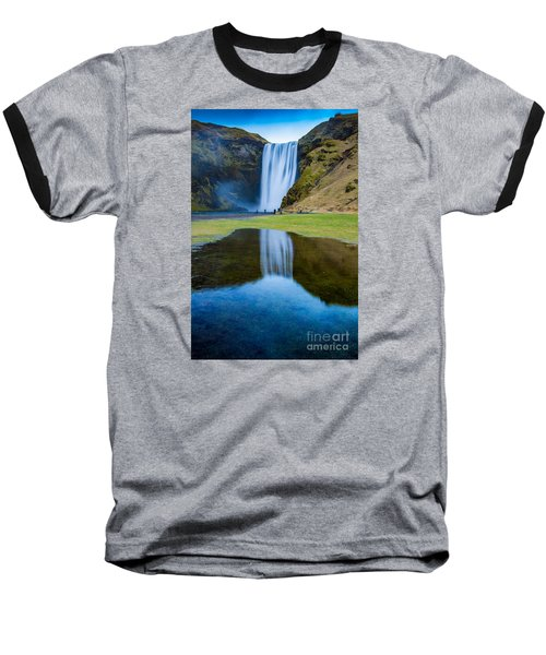 Skogafoss 2 Baseball T-Shirt