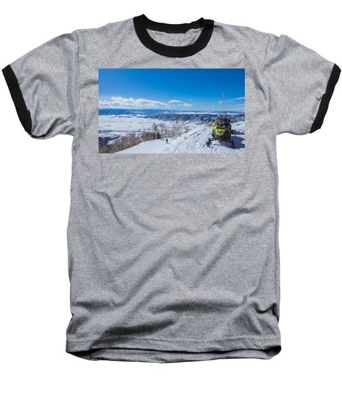 Ski Patrol Baseball T-Shirt by Sean Allen