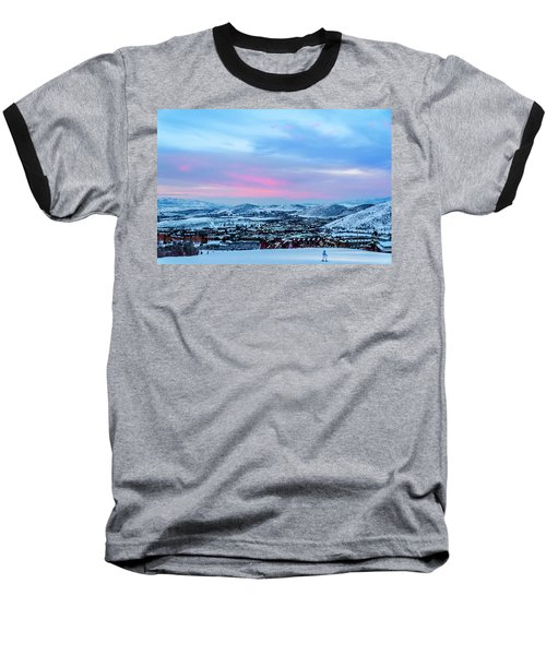 Ski Town Baseball T-Shirt