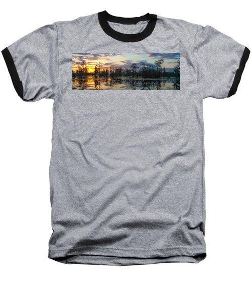 Skies Across The North End Baseball T-Shirt by Kimo Fernandez