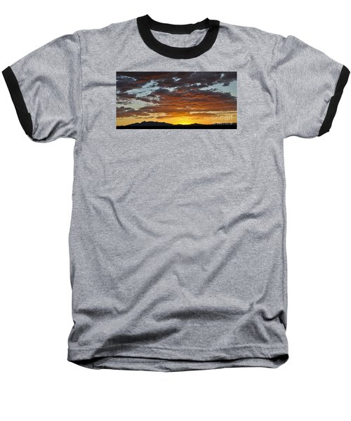 Skies Of Gold Baseball T-Shirt by Gina Savage