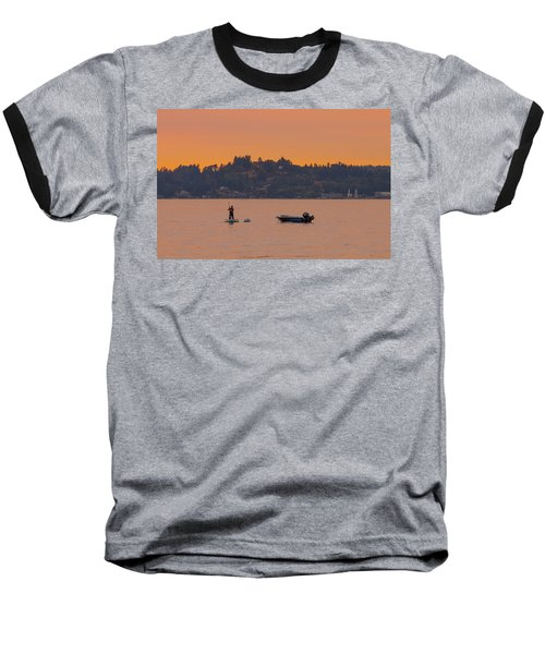 Skiff Anchored - Dinghy Ride Back To Shore Baseball T-Shirt