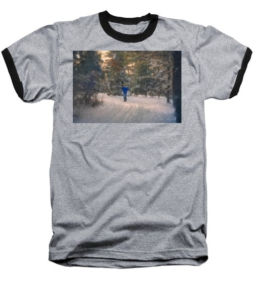 Skiing Borderland In Afternoon Light Baseball T-Shirt