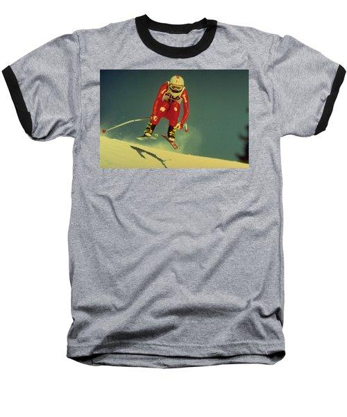Skiing In Crans Montana Baseball T-Shirt