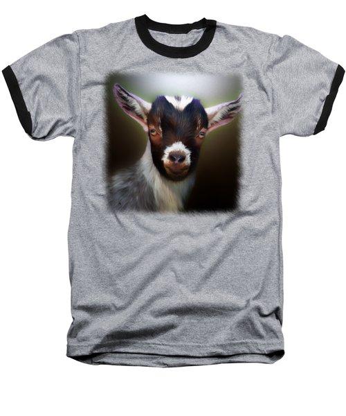 Skippy - Goat Portrait Baseball T-Shirt