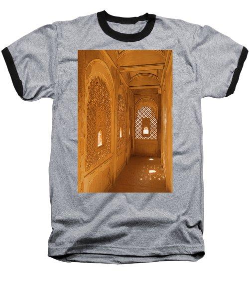 Skn 1241 Carved Niche Baseball T-Shirt by Sunil Kapadia