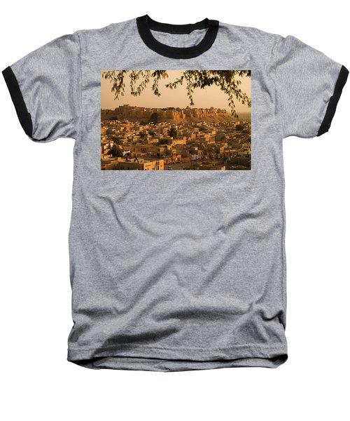 Skn 1334 The Golden City Baseball T-Shirt by Sunil Kapadia
