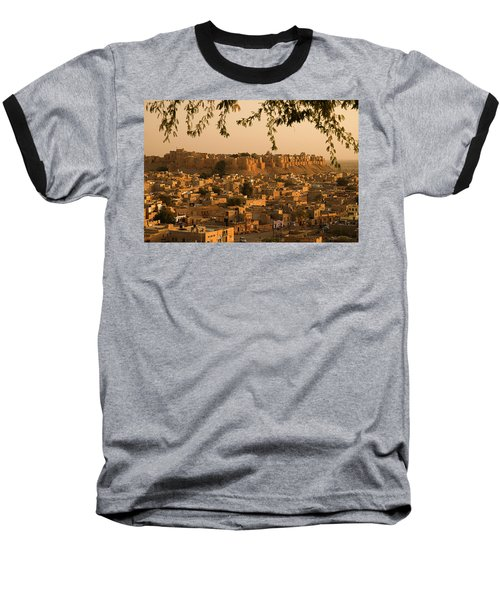 Skn 1334 Golden City Baseball T-Shirt