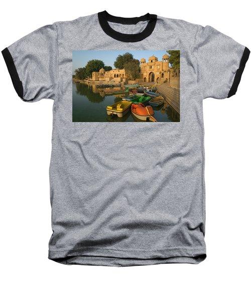 Skn 1391 A Visit To Gadisar Lake Baseball T-Shirt by Sunil Kapadia