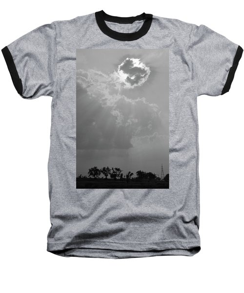 Skn 2170 Blessings Showered Baseball T-Shirt