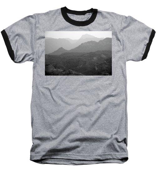 Skn 4443 Rolling Landscape Baseball T-Shirt