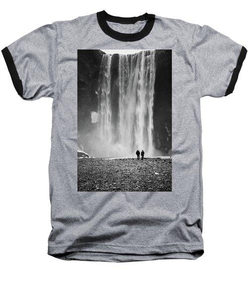 Skogafoss Baseball T-Shirt