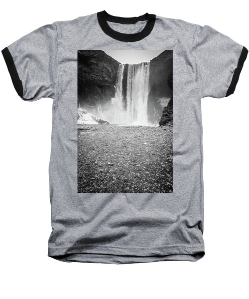 Skogafoss In Winter Baseball T-Shirt