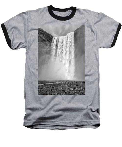 Baseball T-Shirt featuring the photograph Skogafoss Waterfall Iceland by Edward Fielding