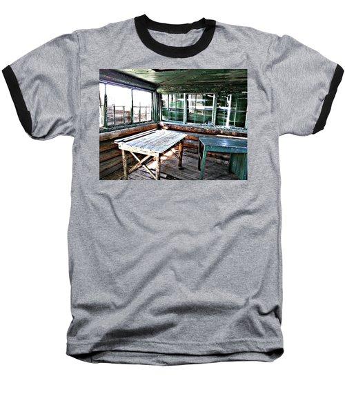 Skookum Butte Lookout Cabin  Baseball T-Shirt