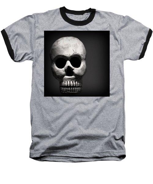 Skull Baseball T-Shirt by Joseph Skompski