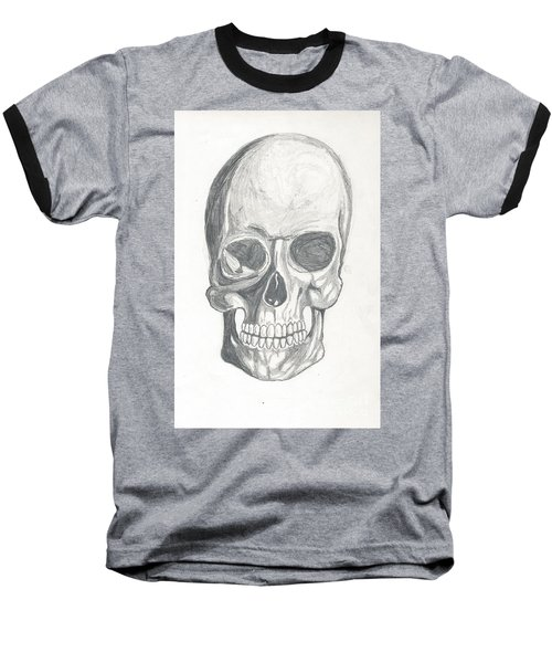 Skull Study 2 Baseball T-Shirt