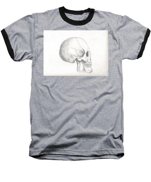 Skull Study Baseball T-Shirt