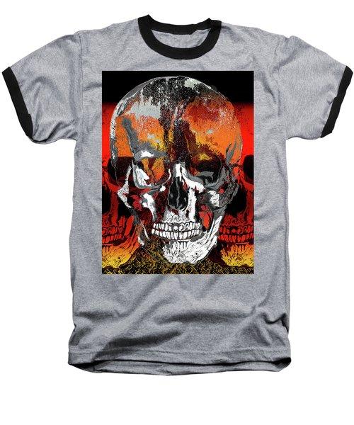 Skull Times Three Baseball T-Shirt