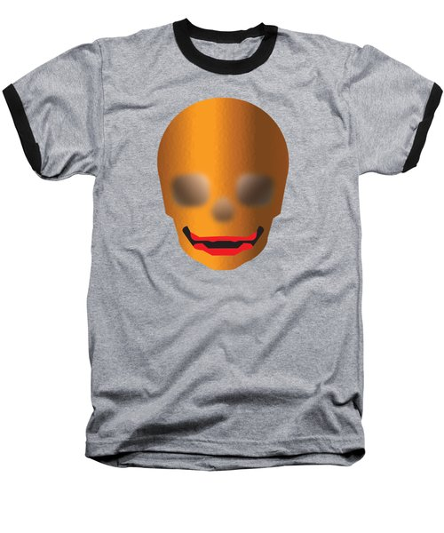 Skull With Lips Baseball T-Shirt