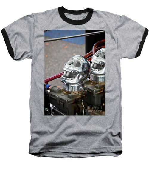 Baseball T-Shirt featuring the photograph Skully by Chris Dutton
