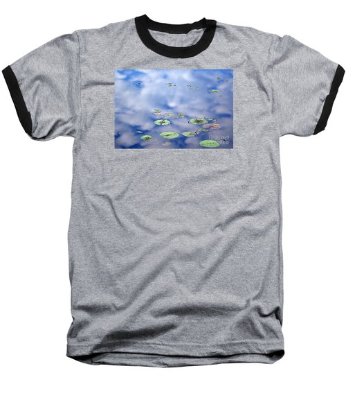 Baseball T-Shirt featuring the photograph Sky And The Lily Pads by Lila Fisher-Wenzel