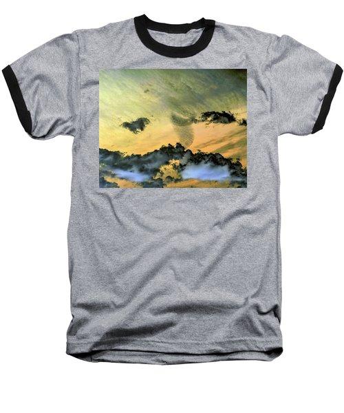 Cloud Art Inverted Colors Baseball T-Shirt