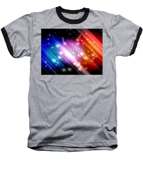 Sky Beams Baseball T-Shirt by Carol Crisafi