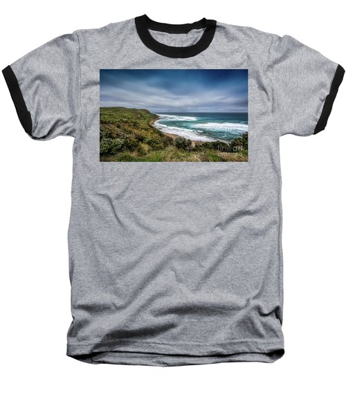 Baseball T-Shirt featuring the photograph Sky Blue Coast by Perry Webster
