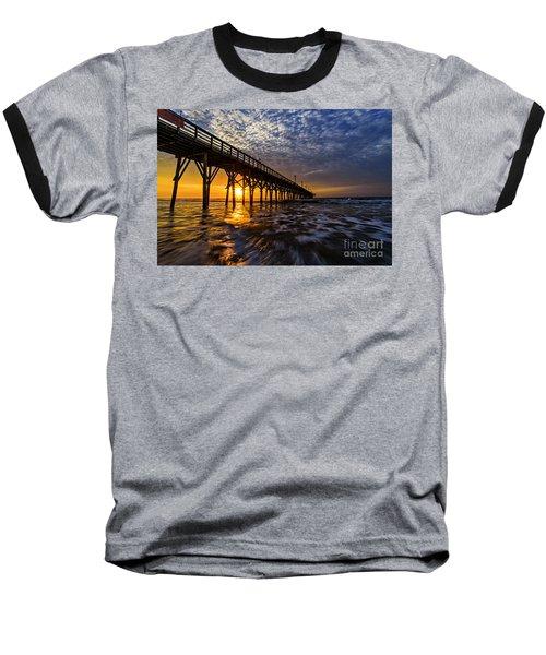 Sky Divided Baseball T-Shirt