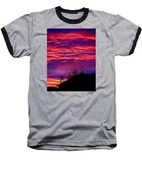 Baseball T-Shirt featuring the photograph Sky Drama by Valentino Visentini