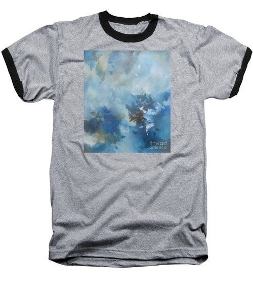 Baseball T-Shirt featuring the painting Sky Fall I by Elis Cooke