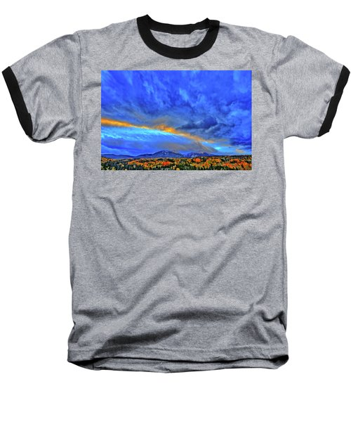 Baseball T-Shirt featuring the photograph Sky Fall by Scott Mahon