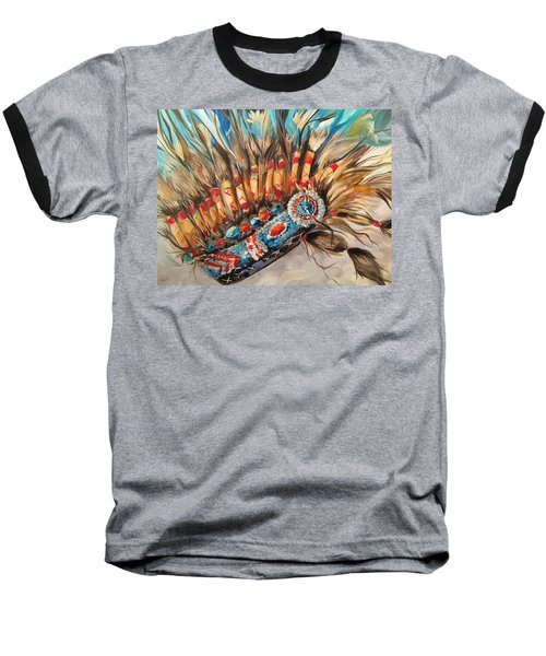 Sky Feather Detail Baseball T-Shirt by Heather Roddy