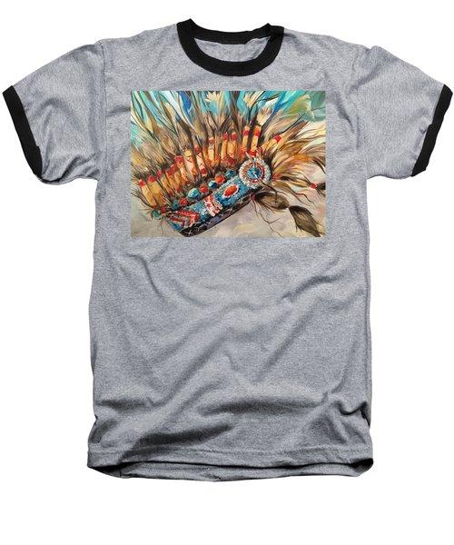 Sky Feather Detail Baseball T-Shirt