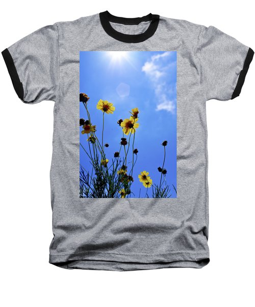 Sky Flowers Baseball T-Shirt