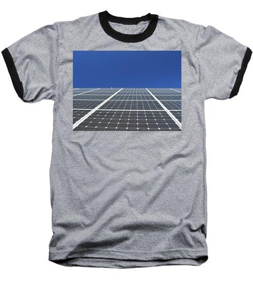 Sky Grid  Baseball T-Shirt by Lyle Crump